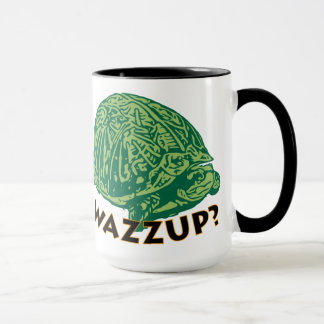 Wazzup - Black 15 oz Ringer Mug