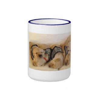 WCC camo puppies mug