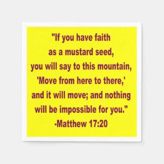 WDJS: Faith as a Mustard Seed Paper Napkins