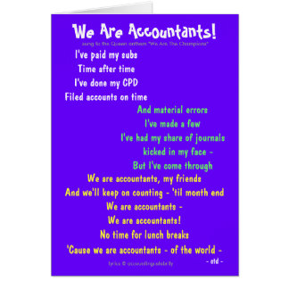We Are Accountants! Double-sided Customisable Card
