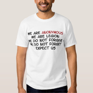 We Are Anonymous Tshirt