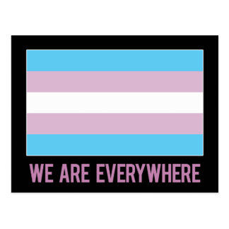 We Are Everywhere postcard (transgender)