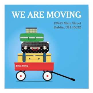 We Are Moving - Editable Moving Announcement Card