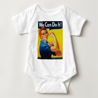 We Can Do It Rosie the Riveter Baby Bodysuit