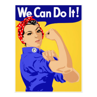 We Can Do It! Rosie The Riveter WWII Poster Flyer