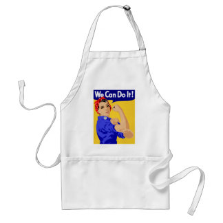 We Can Do It! Rosie The Riveter WWII Poster Standard Apron