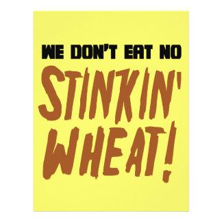 We Don't Eat No Stinkin' Wheat Celiac Gluten Free Custom Flyer