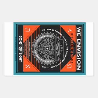 We Envision Rectangular Sticker