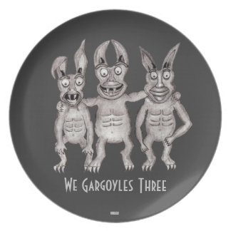 We Gargoyles Three Plate