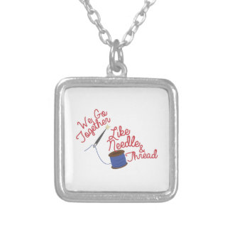 We go Together Square Pendant Necklace