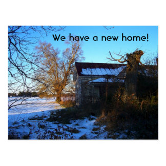 """""""We Have A New Home"""" Change of Address Postcard"""
