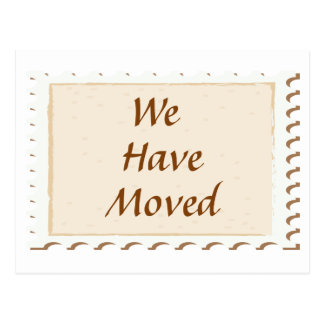 We Have Moved Postage Card