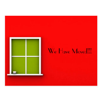 """WE HAVE MOVED"" POSTCARD"
