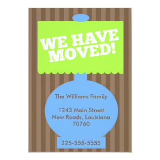We Have Moved (Today's Best Award) 13 Cm X 18 Cm Invitation Card