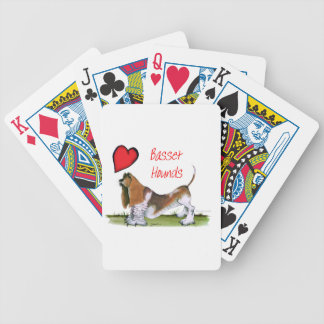 we luv basset hounds from tony fernandes bicycle playing cards