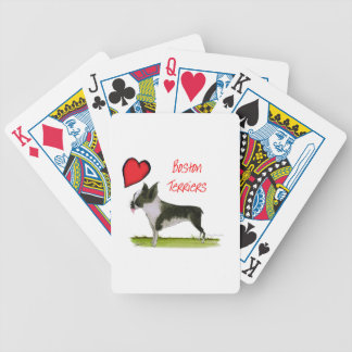 we luv boston terriers from tony fernandes bicycle playing cards