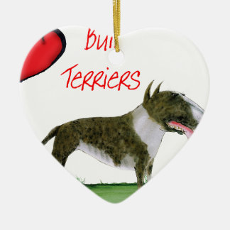 we luv bull terriers from tony fernandes christmas ornament