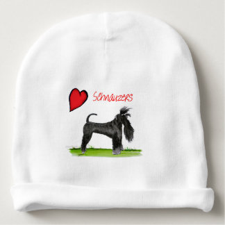 we luv schnauzers from tony fernandes baby beanie