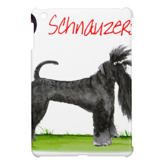 we luv schnauzers from tony fernandes iPad mini cover