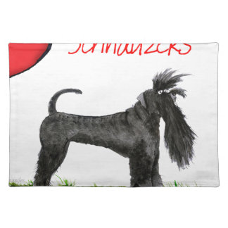 we luv schnauzers from tony fernandes placemat