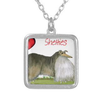 we luv shetland sheepdogs from Tony Fernandes Silver Plated Necklace