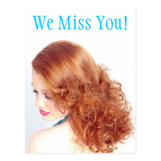 We Miss You! Postcard