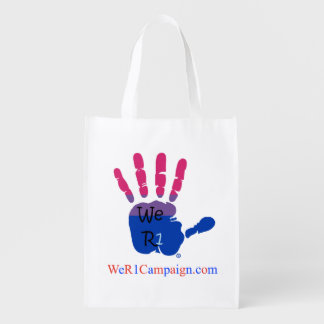 We R1 (Bisexual Hand), Reusable Shopping Bag