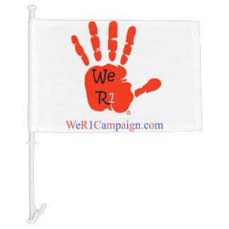 We R1 Car Flag