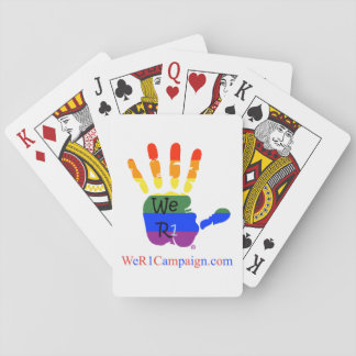 We R1 Rainbow Hands Playing Card