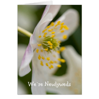 We`re Newlyweds Anemone Card