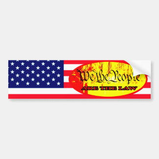 We The People ARE THE LAW Flag The MUSEUM Zazzle G Bumper Sticker