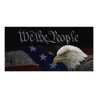 We The People Patriotic Card Personalized Photo Card