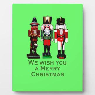 We Wish You a Merry Christmas Nutcrackers Plaque