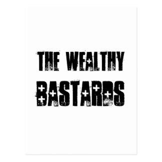 Wealthy Bastards Poster Postcard