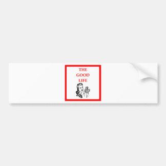 wealthy bumper sticker