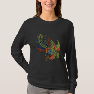 Wealthy Peacock Chinese Colorful Tattoo T-Shirt