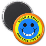 WEAR A SMILE - ONE SIZE FITS ALL MAGNET