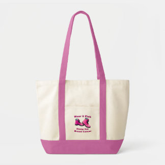 Wear It Pink Stamp Out Breast Cancer Tote Bag
