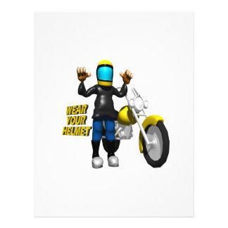 Wear Your Helmet Custom Flyer