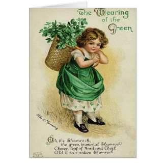 Wearing of the Green St. Patrick's Day Card
