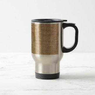 Weathered Burlap Travel Mug
