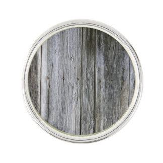 Weathered Door Planks Lapel Pin