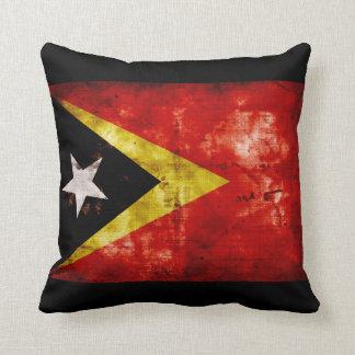 Weathered East Timor Flag Cushion
