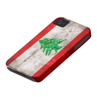 Weathered Lebanon Flag Case-Mate iPhone 4 Cases