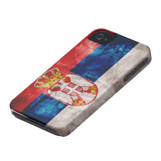 Weathered Serbia Flag iPhone 4 Covers