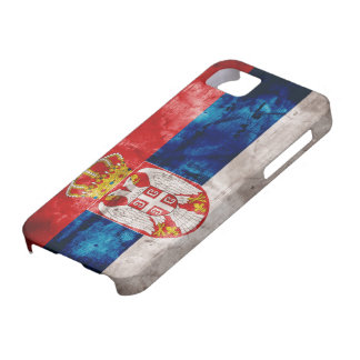 Weathered Serbia Flag iPhone 5 Covers