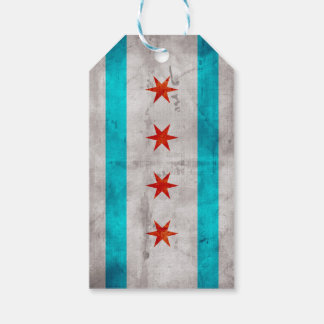 Weathered Vintage Chicago State Flag Gift Tags