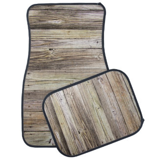 Weathered Wood Dock Boards with Rustic Appeal Car Mat