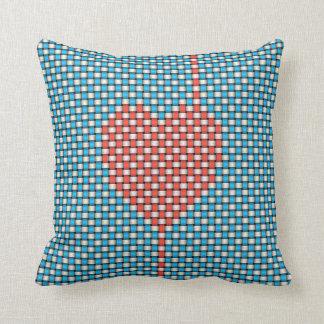 Weaved Heart Cushion