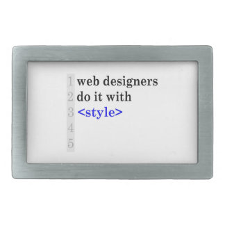 web designers do it with style belt buckles